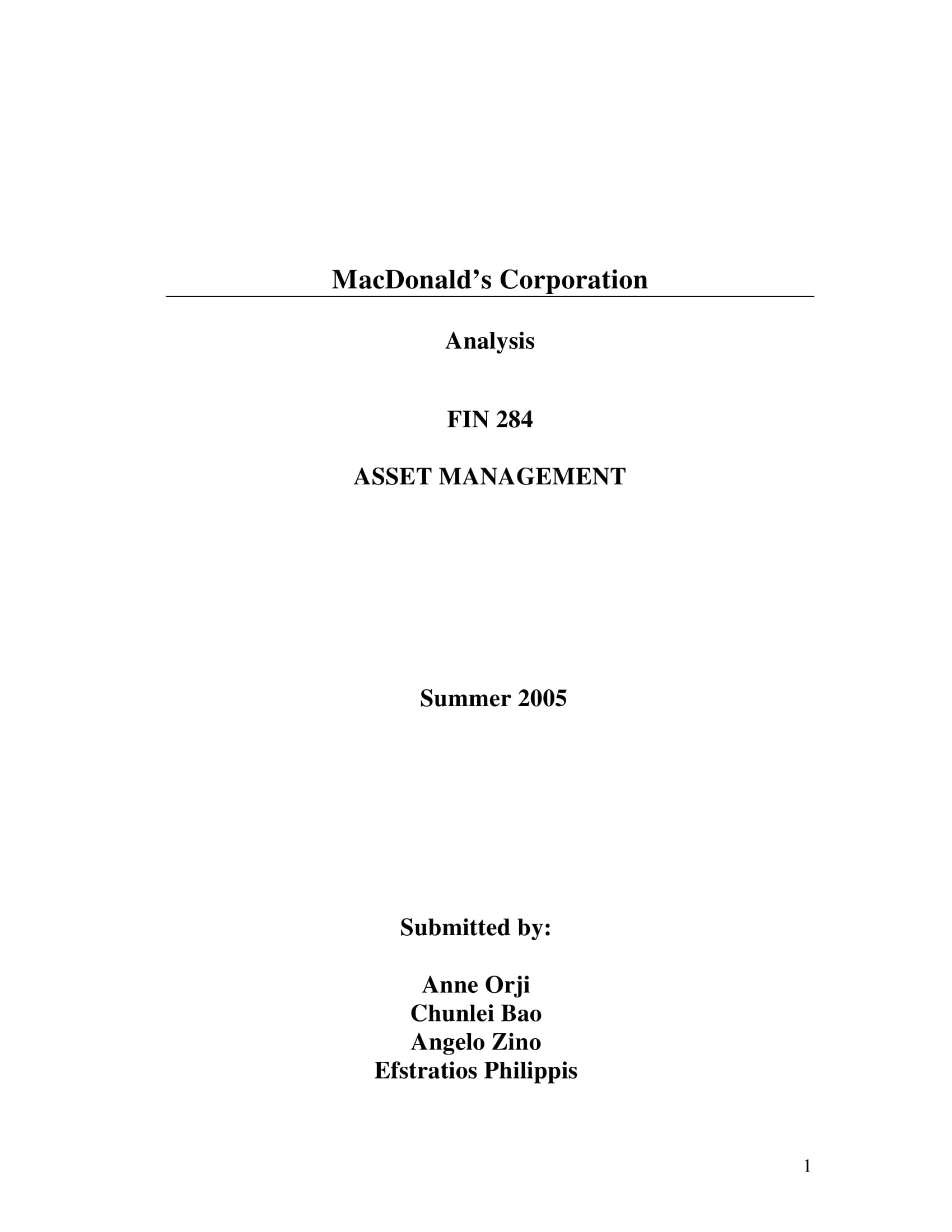 fast food restaurant asset management and swot analysis example 01