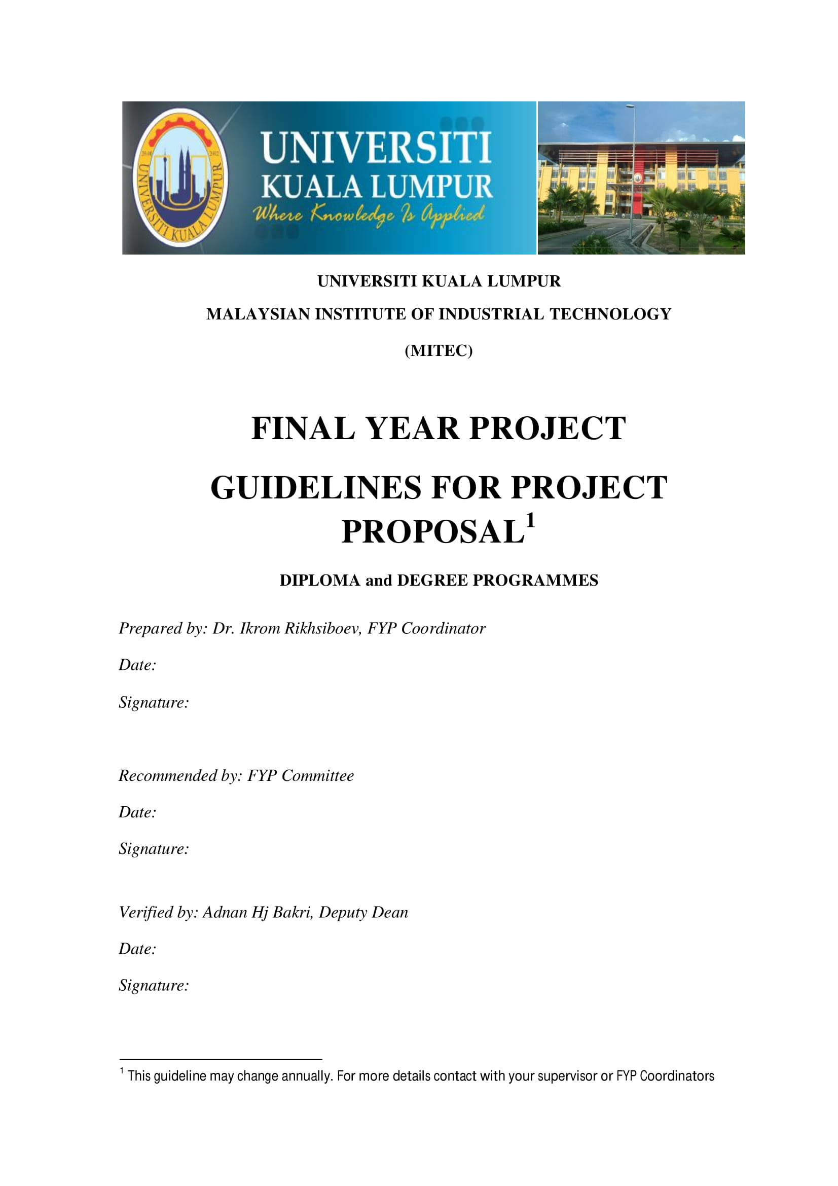 final year project proposal guidelines example 1