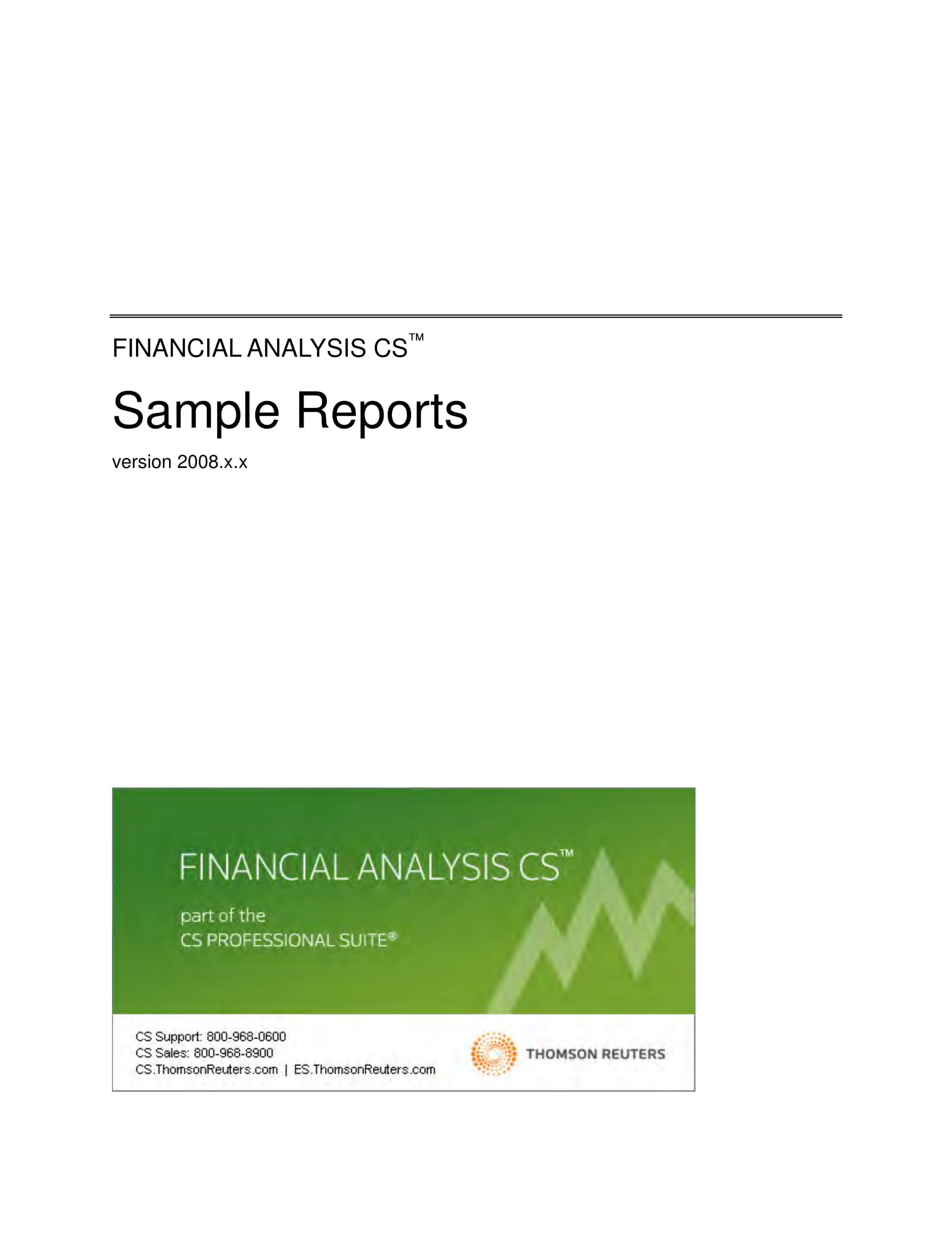 financial analysis report example