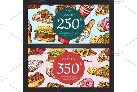 food discount or gift voucher example
