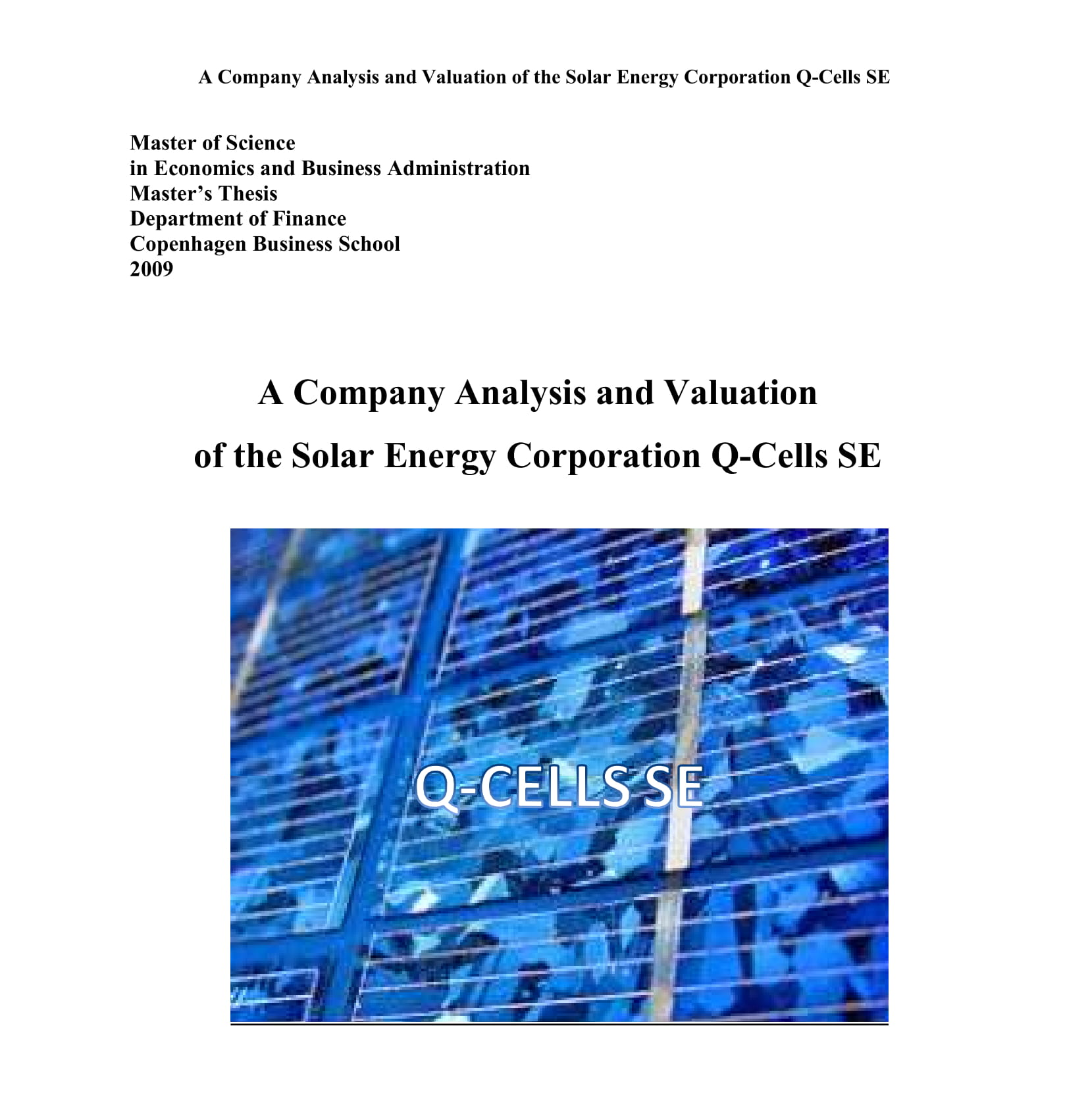 formal company analysis example