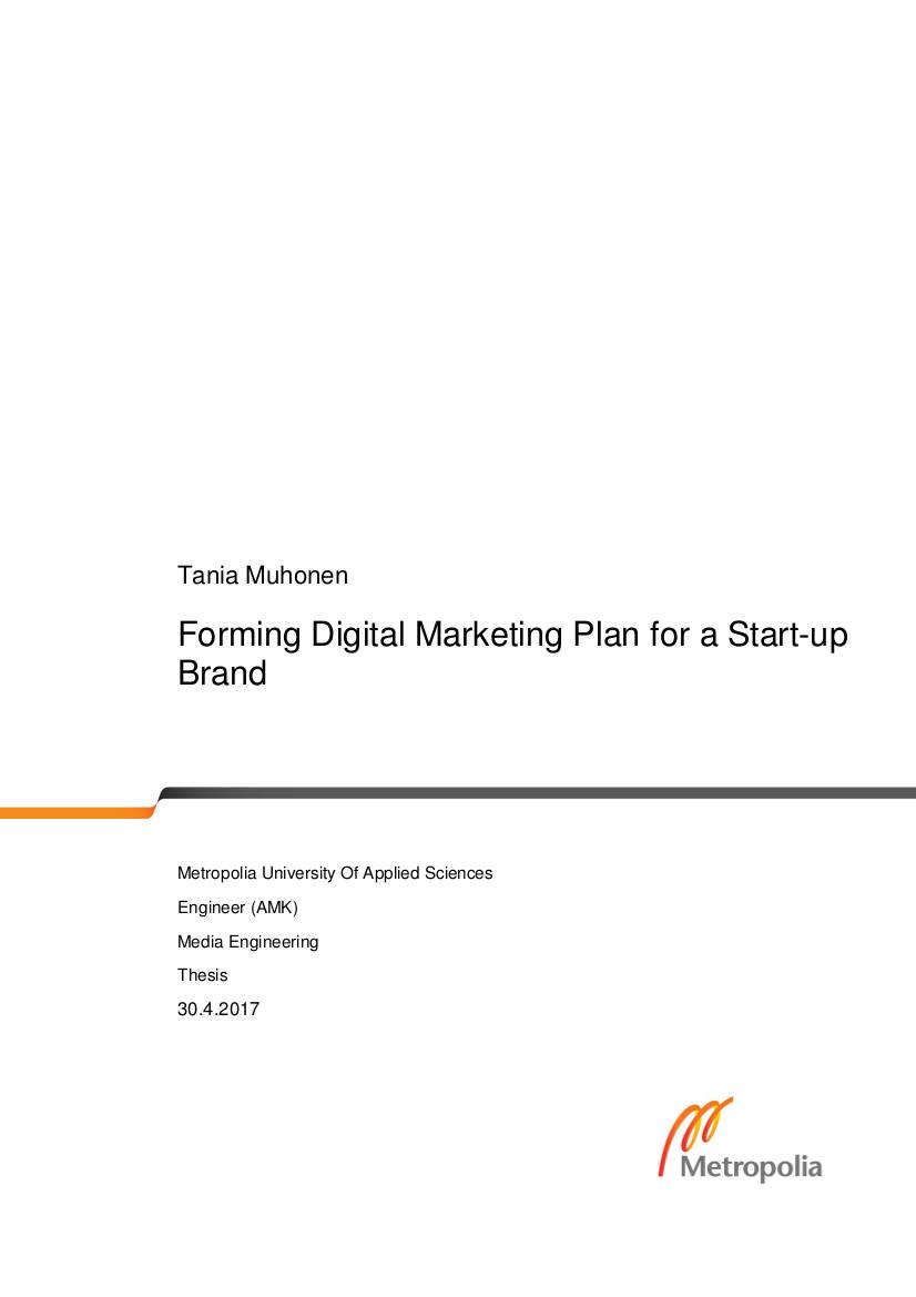 8 Startup Marketing Plan Examples In Pdf