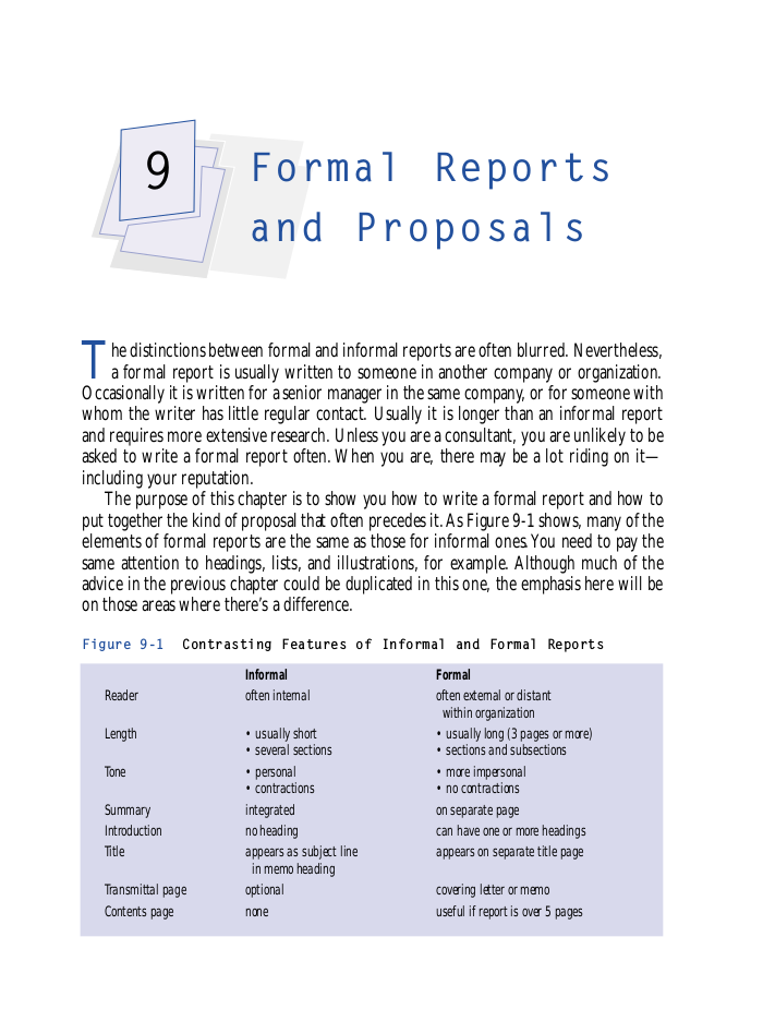 formal reports and proposal example