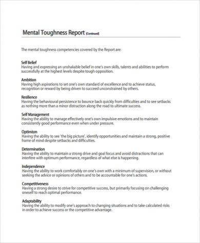 free professional report example