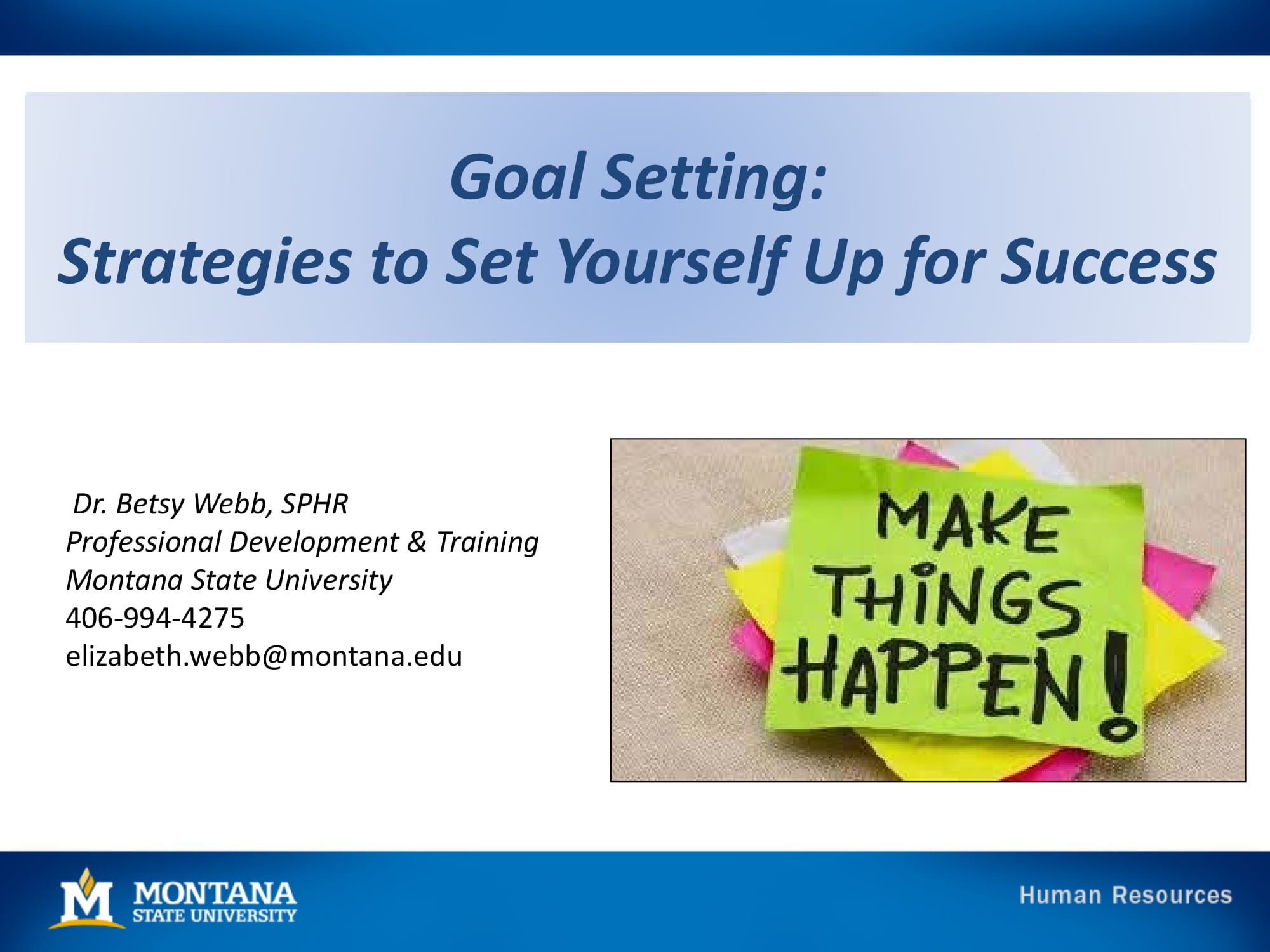 goal setting strategies example