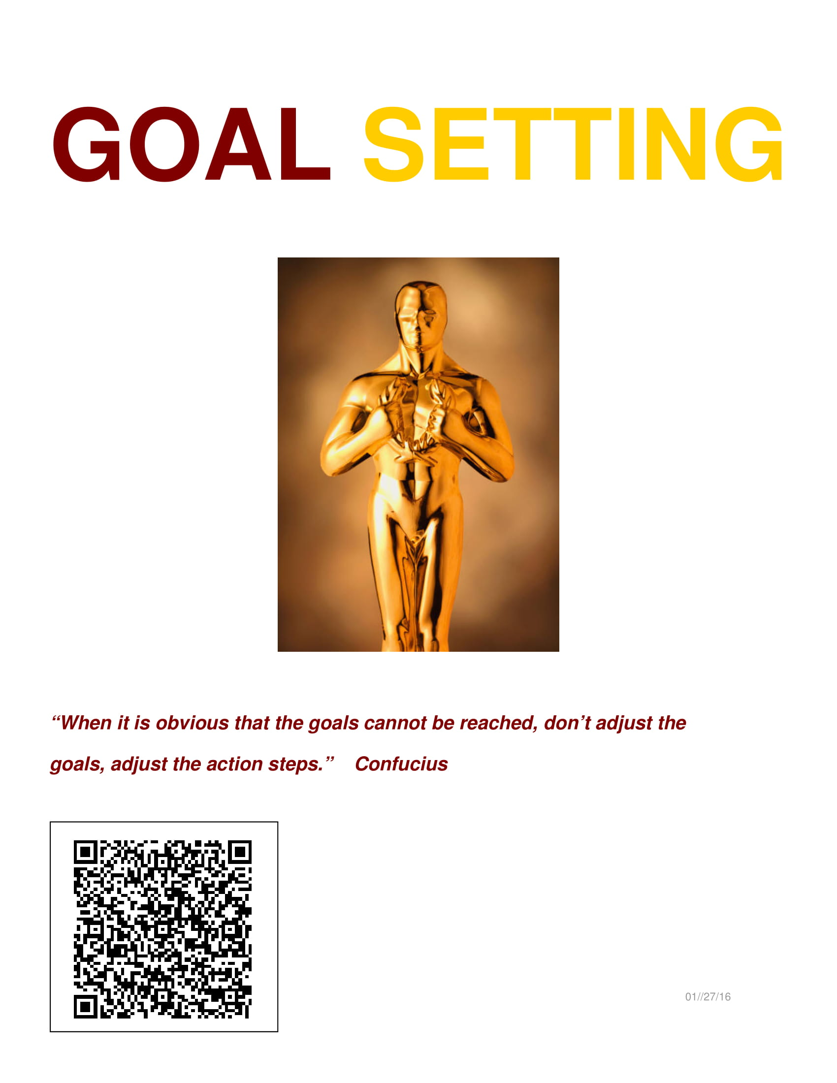 goal setting workbook example