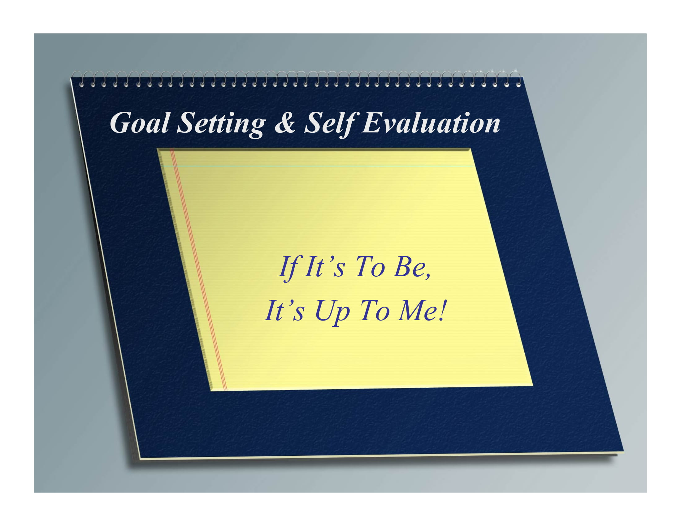 goal setting and self evaluation guide example