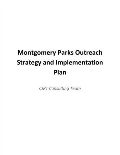 governmental outreach strategy plan example