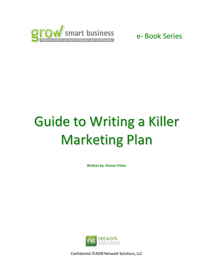 guide to writing a killer marketing plan
