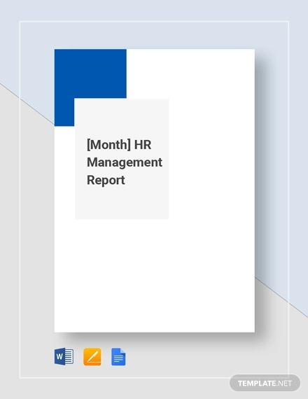 hr montly management report