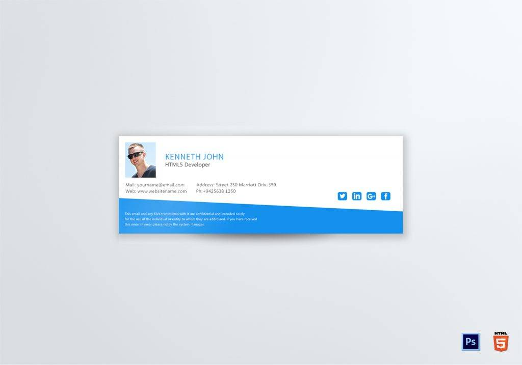 html web developer email signature example 1024x717