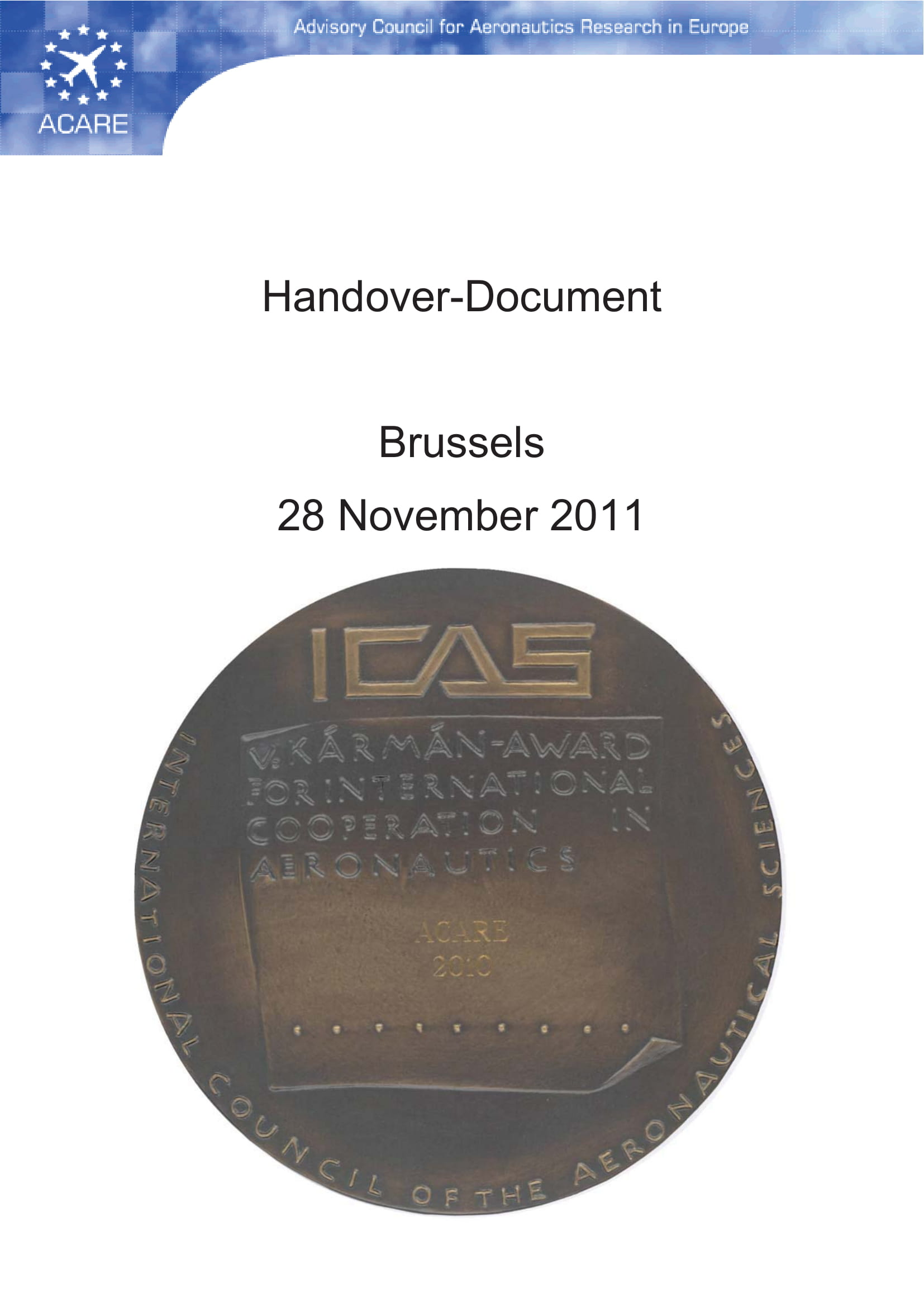 handover document for reporting example 001