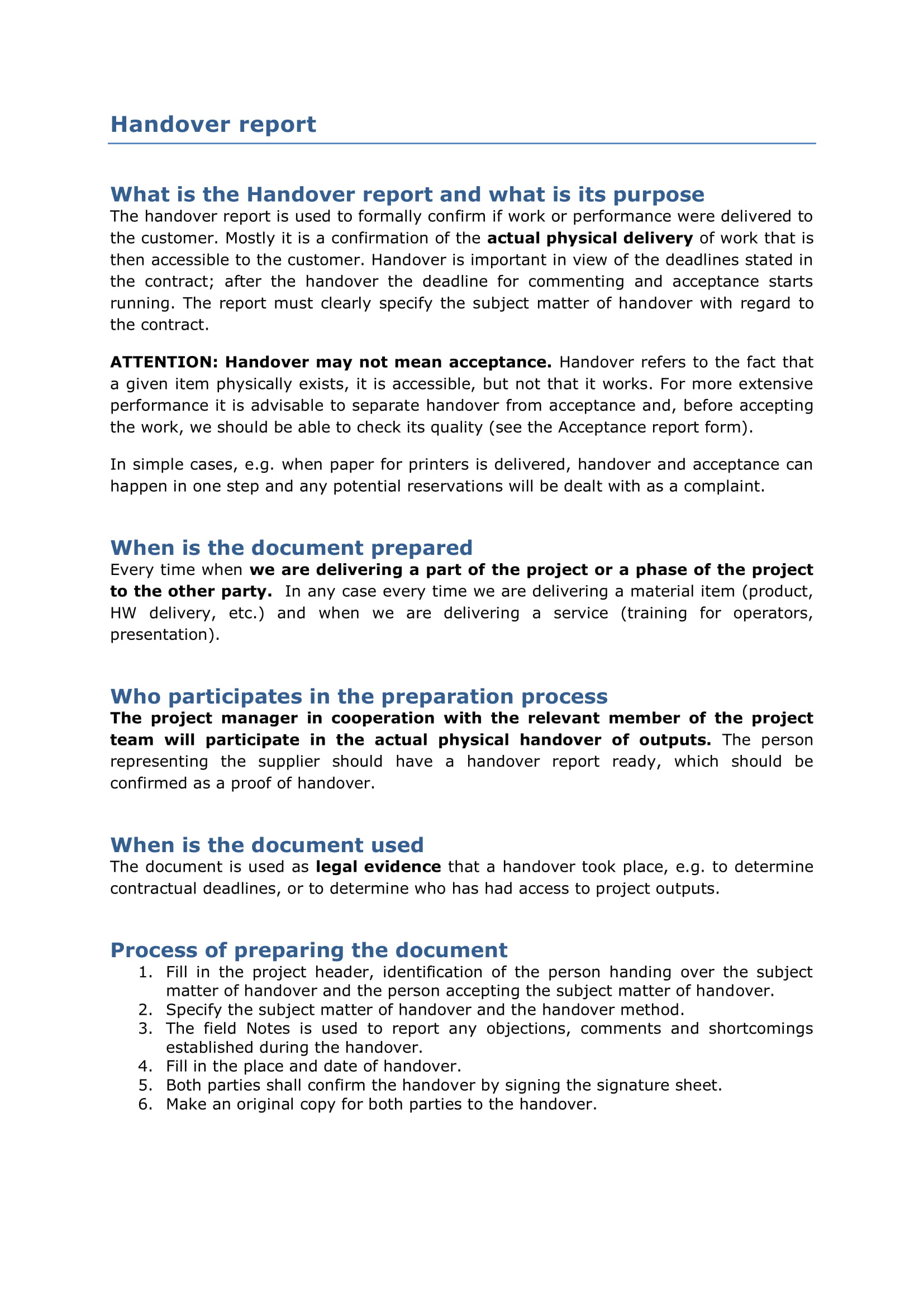 11+ Handover Report Examples - PDF, Docs, Word | Examples