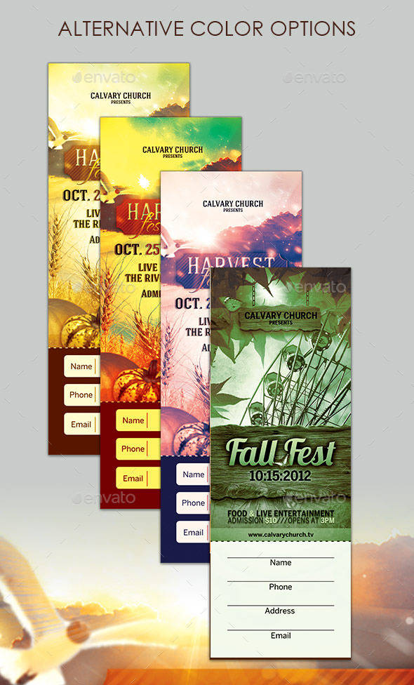 harvest festival ticket example