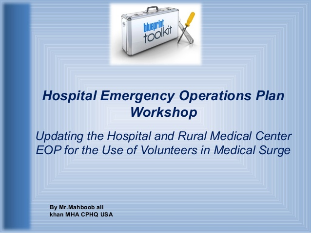 hospital emergency operations plan
