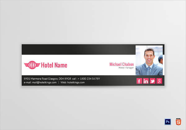 hotel email signature template1