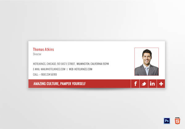 hotel holiday email signature template