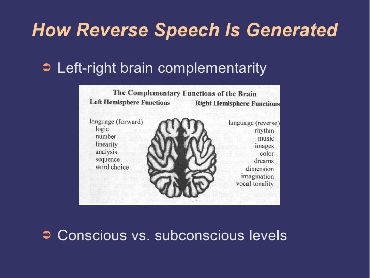 how reverse speech is generated