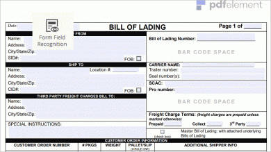 how to edit a bill of lading