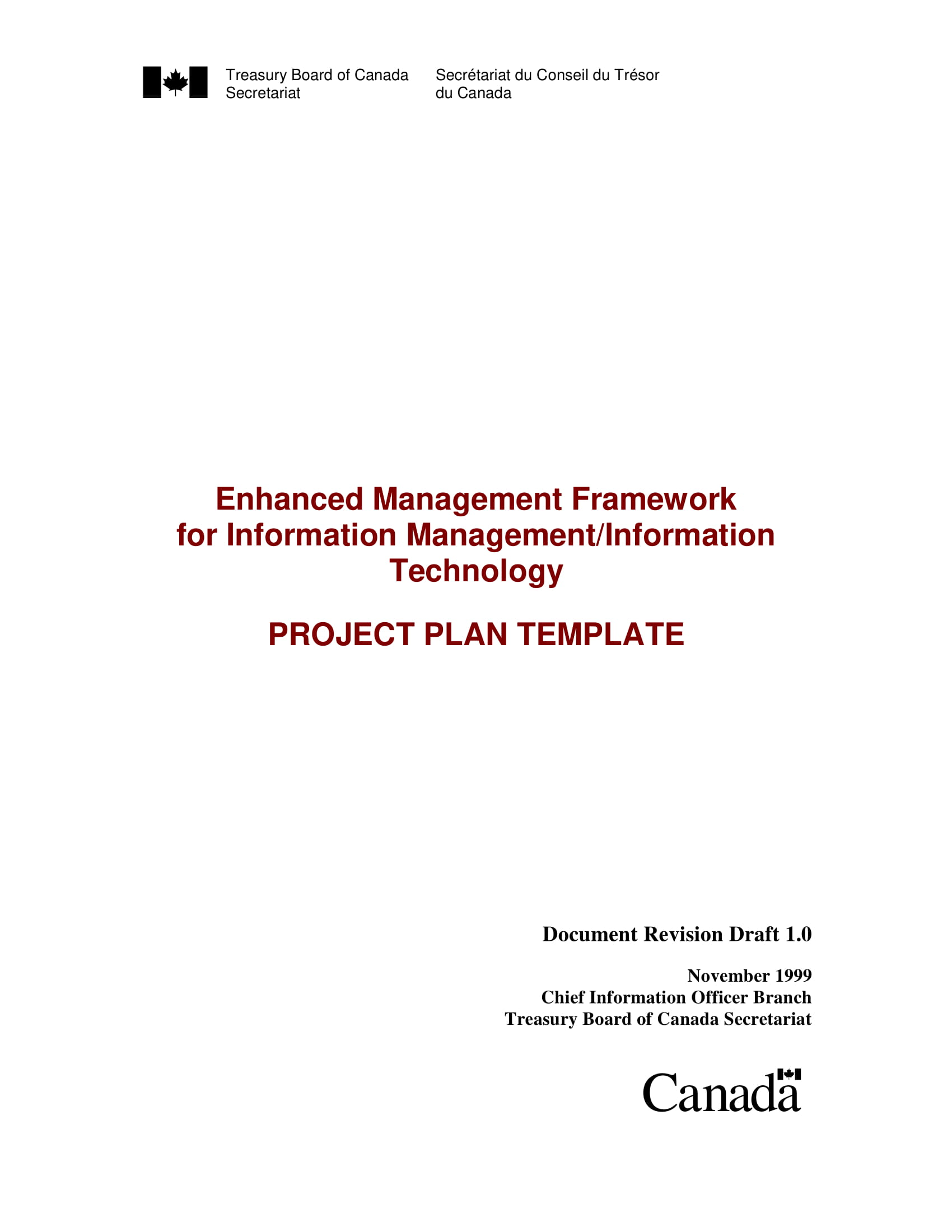 it project plan example
