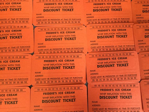 ice cream parlor discount vouchers