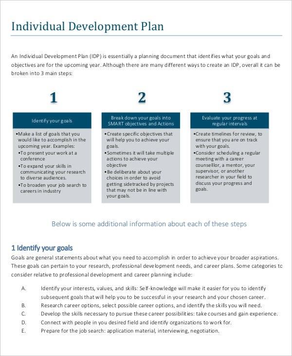 10 career development plan examples pdf word individual career development plan example maxwellsz