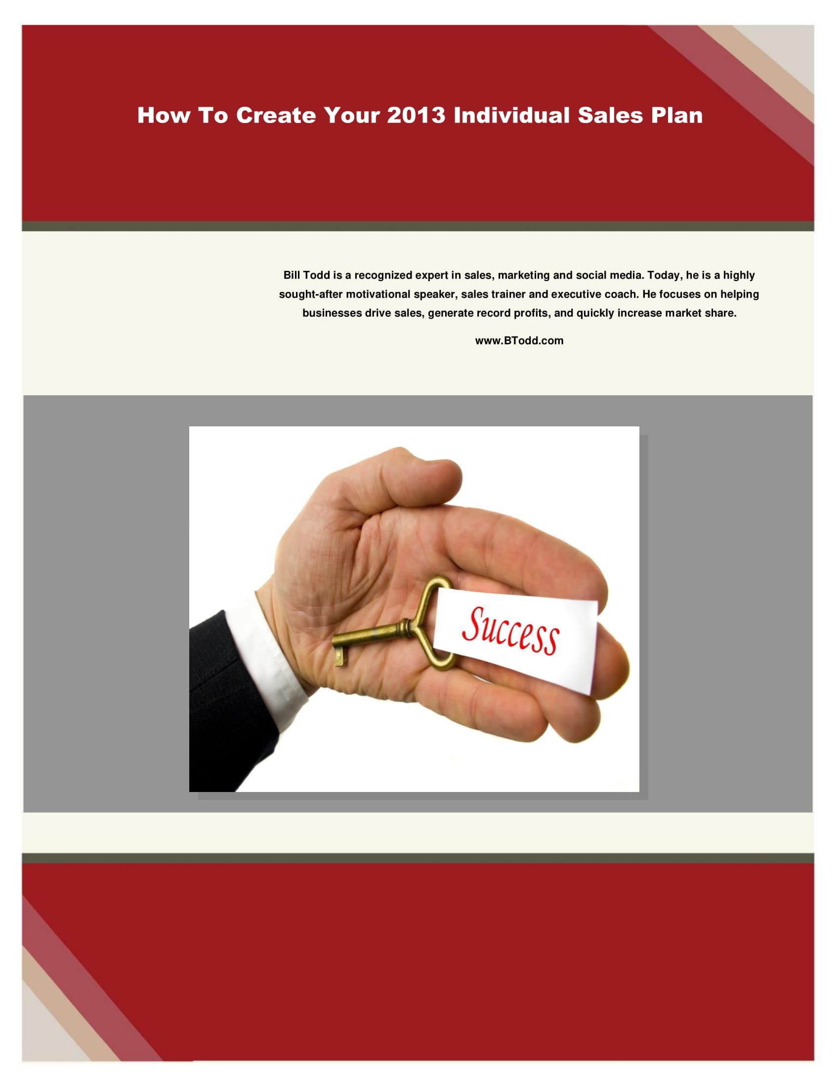 individual sales plan example 1