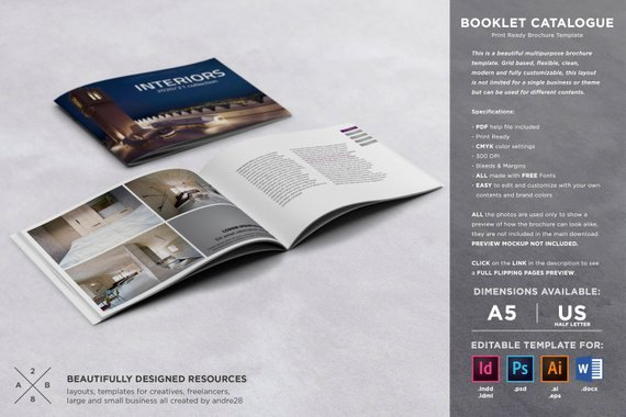 interior design booklet and catalog template example