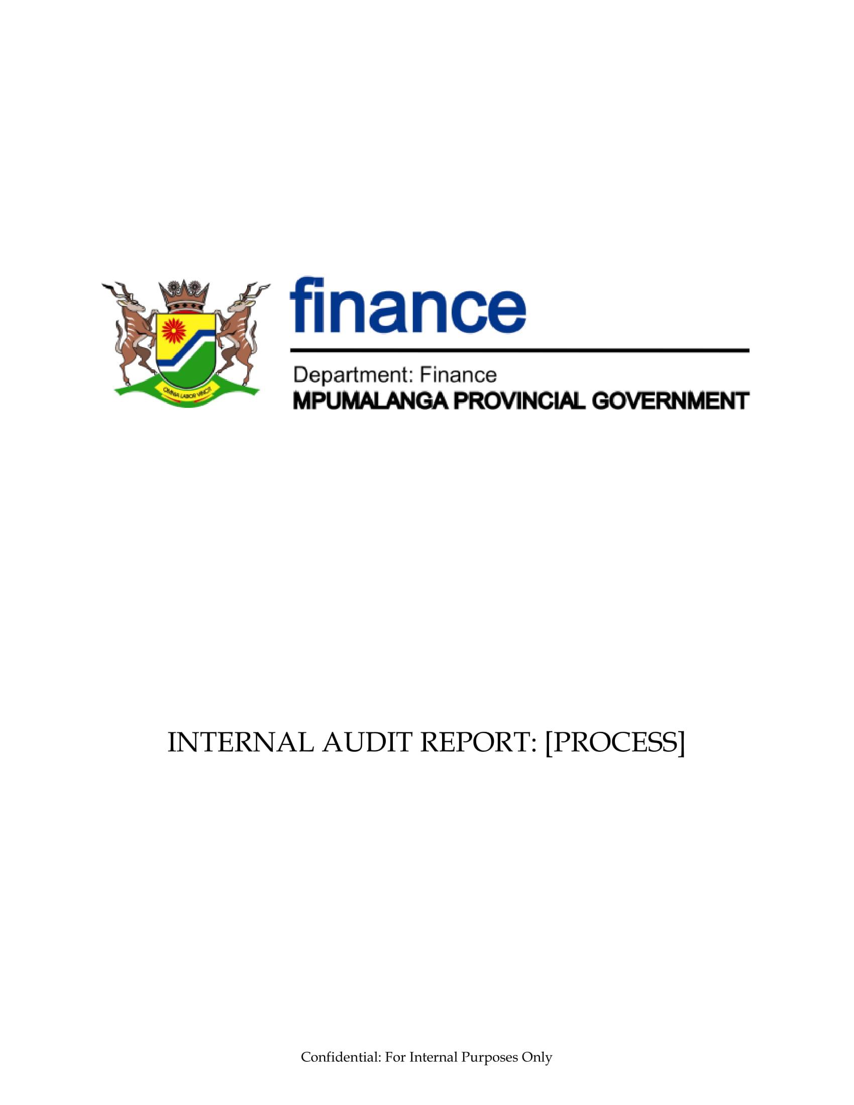internal audit report process example 1