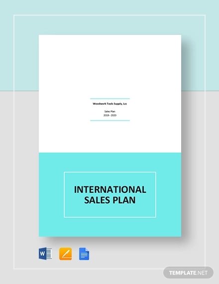 international sales plan template