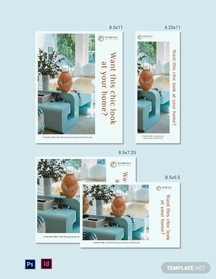 interoir design magazine ads template