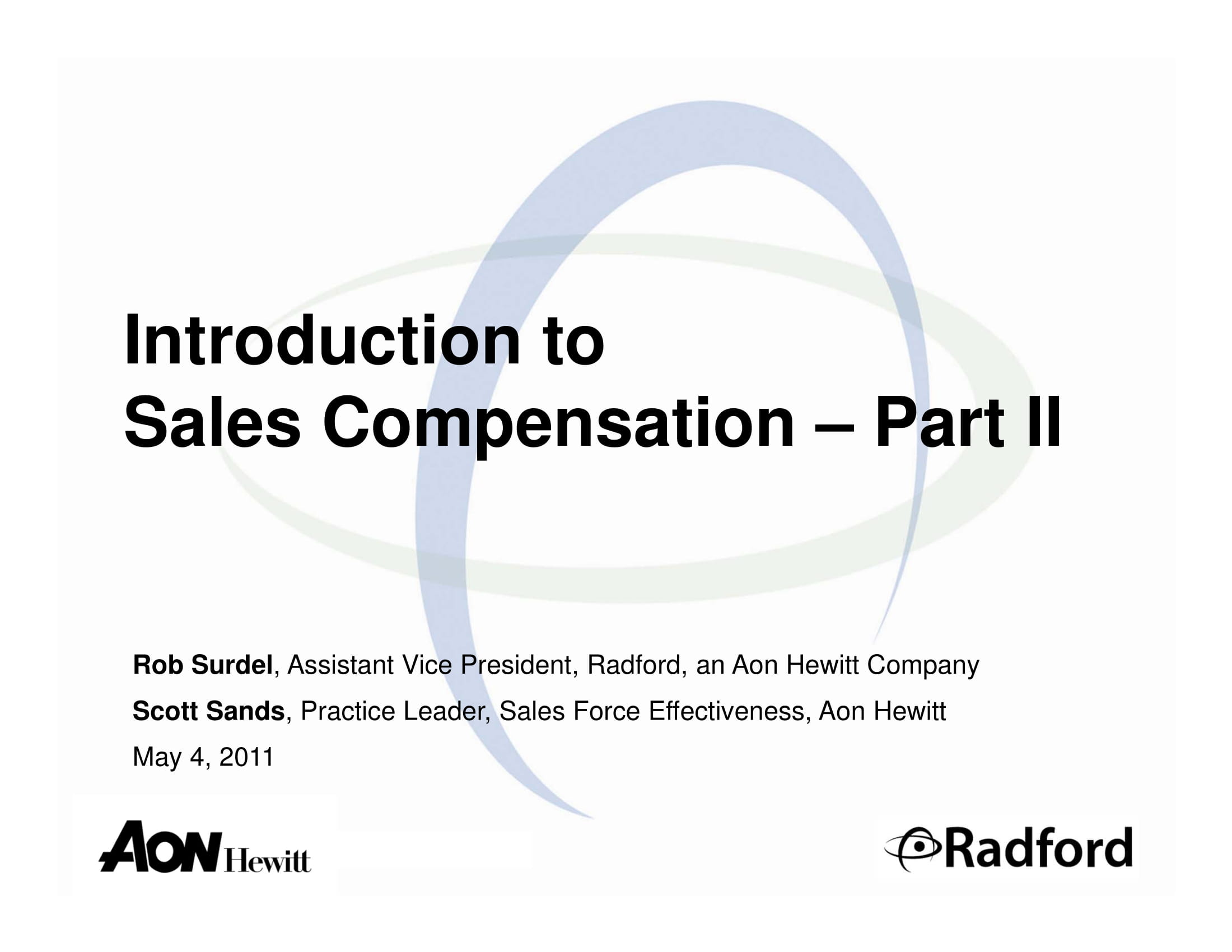 introduction to sales compensation policies format and content planning example 01