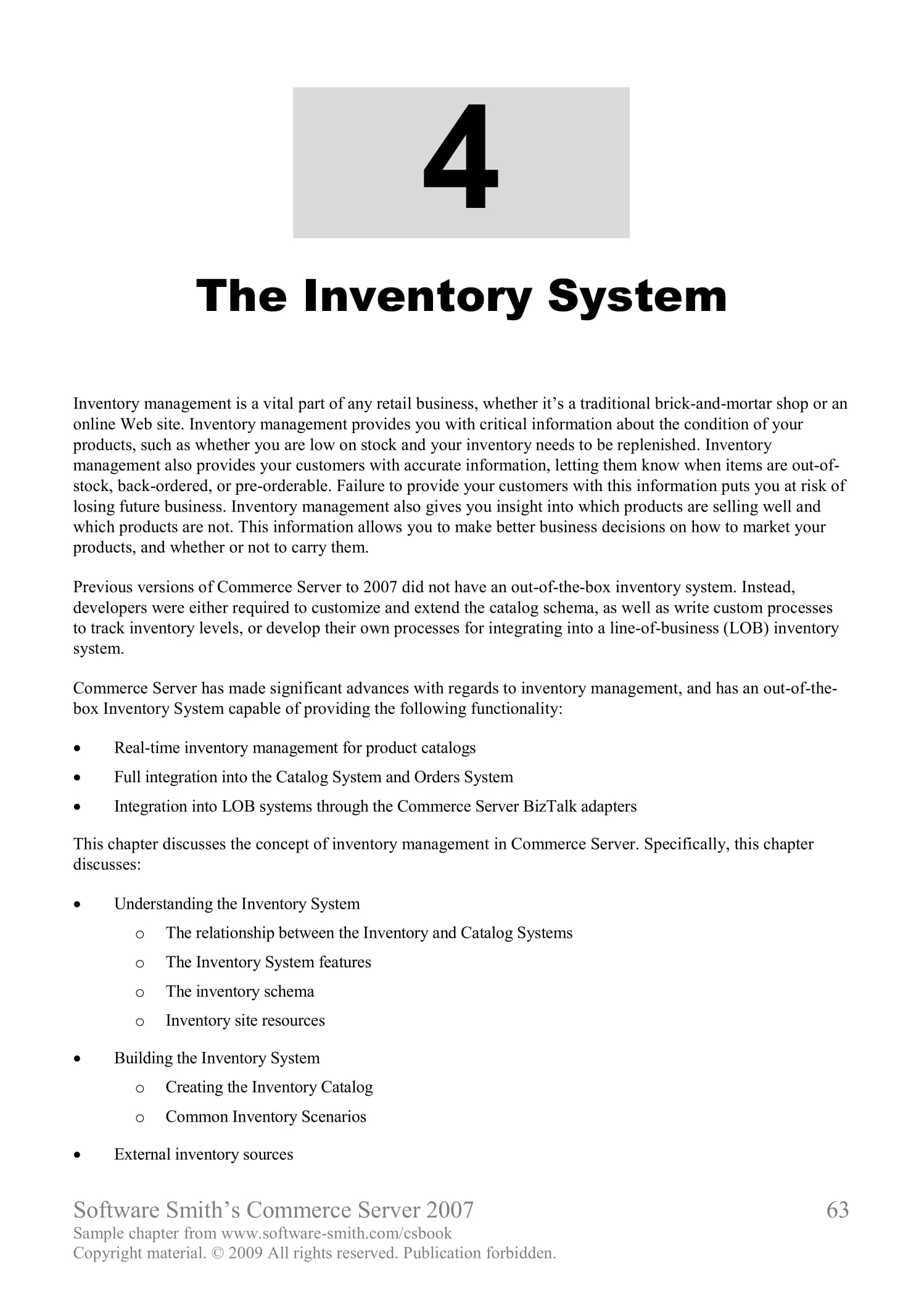 inventory system and database development example 01