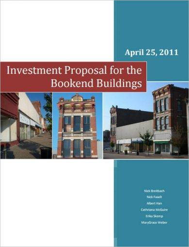 investment proposal for the bookend buildings