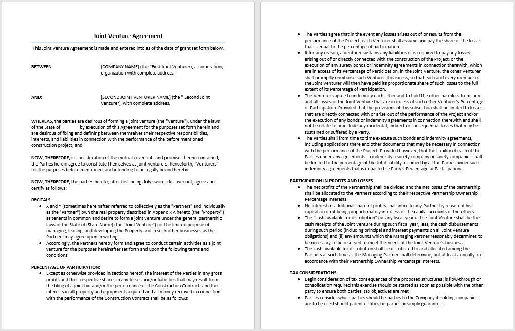 11 venture capital investment agreement examples pdf word