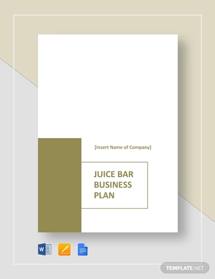 juice bar business plan example