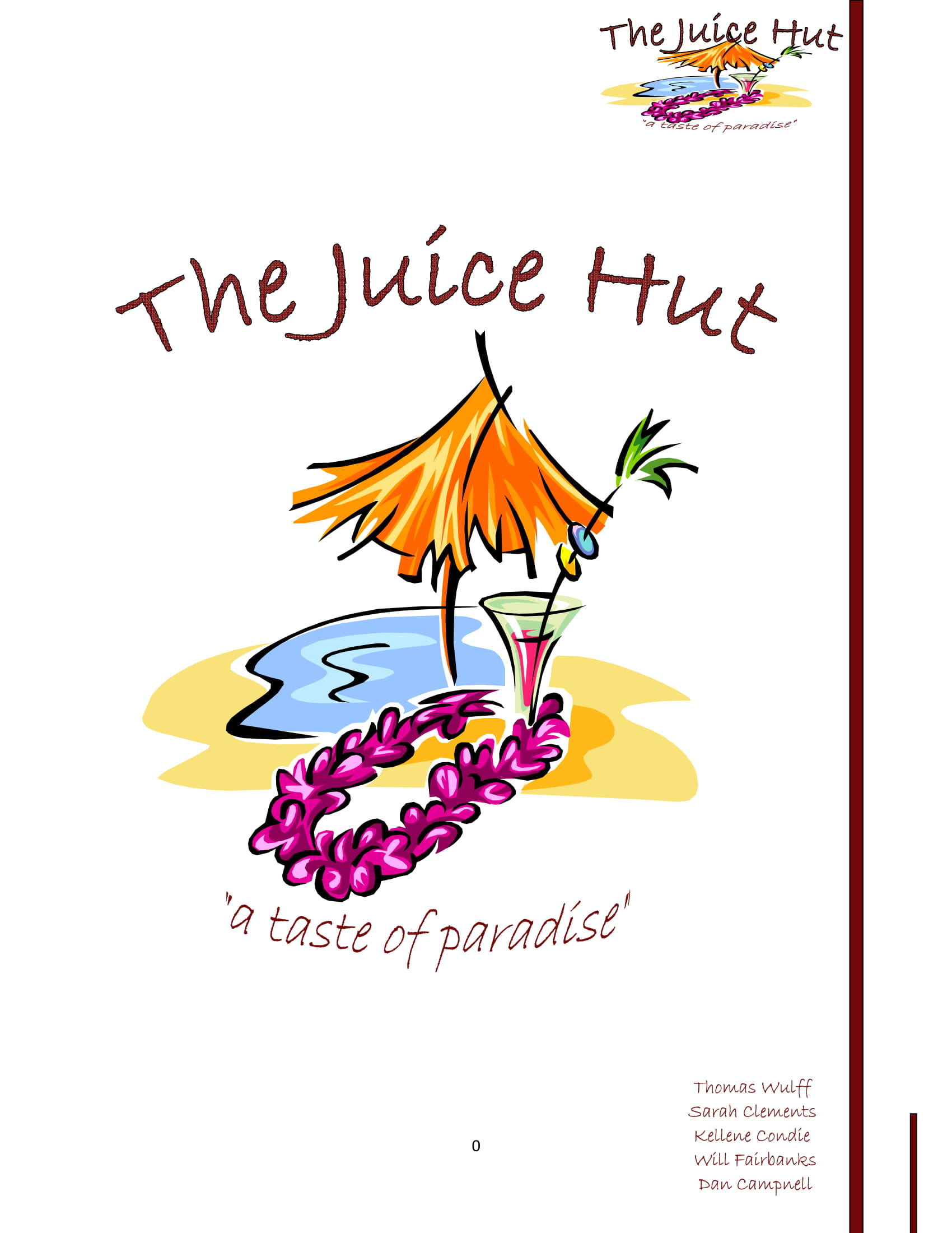 juice hut business plan example 01