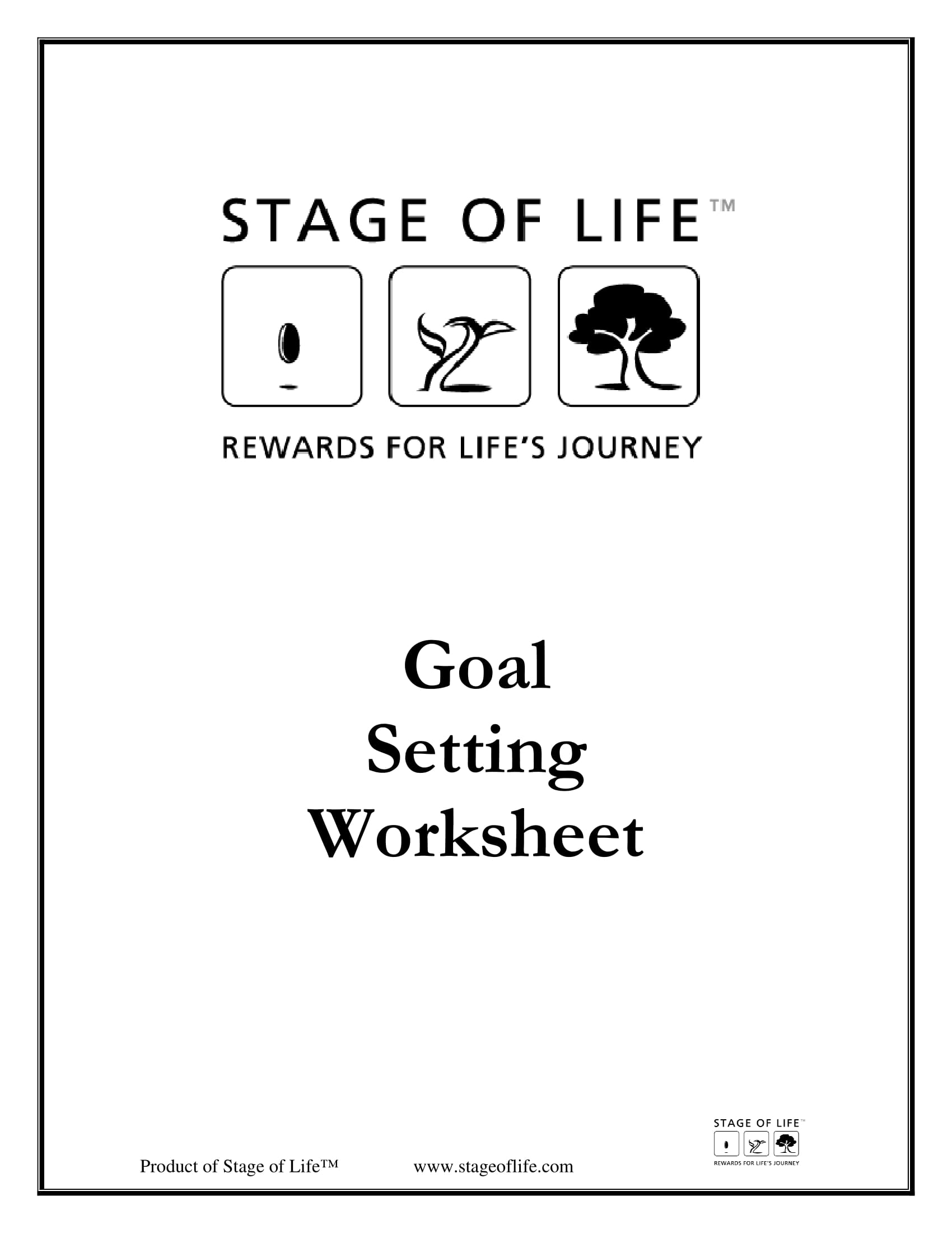 lifetime goal setting worksheet example