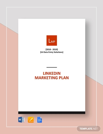 linkedin marketing plan template