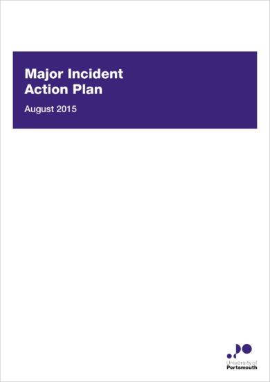major incident action plan example