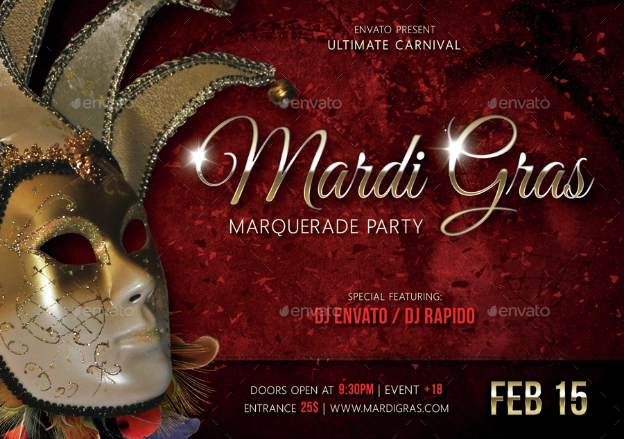 mardi gras carnival ticket bundle