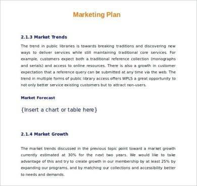 market trends restaurant plan example1