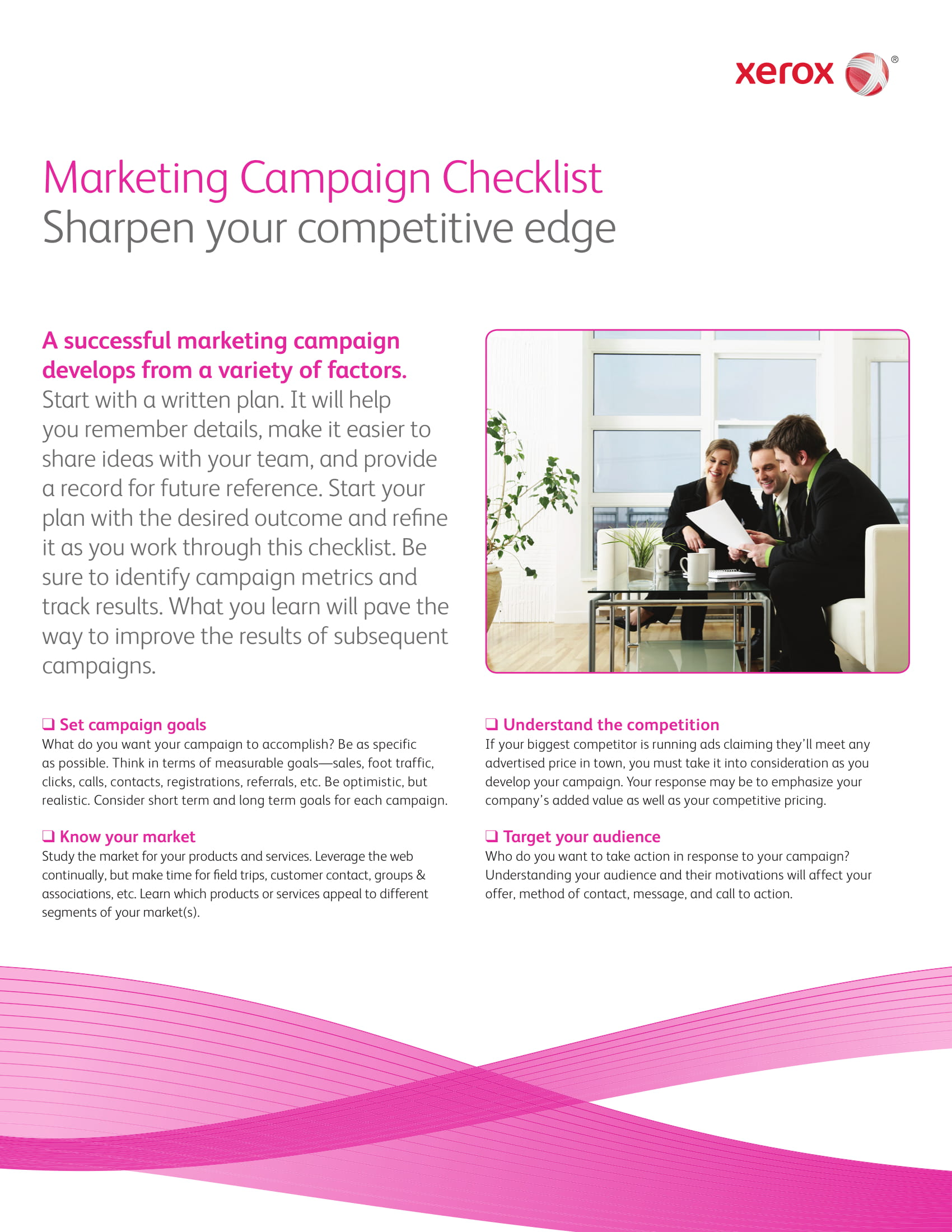 marketing campaign proposal checklist example
