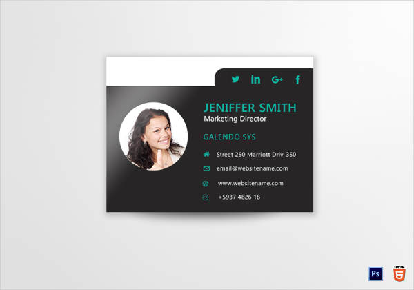 marketing director email signature template