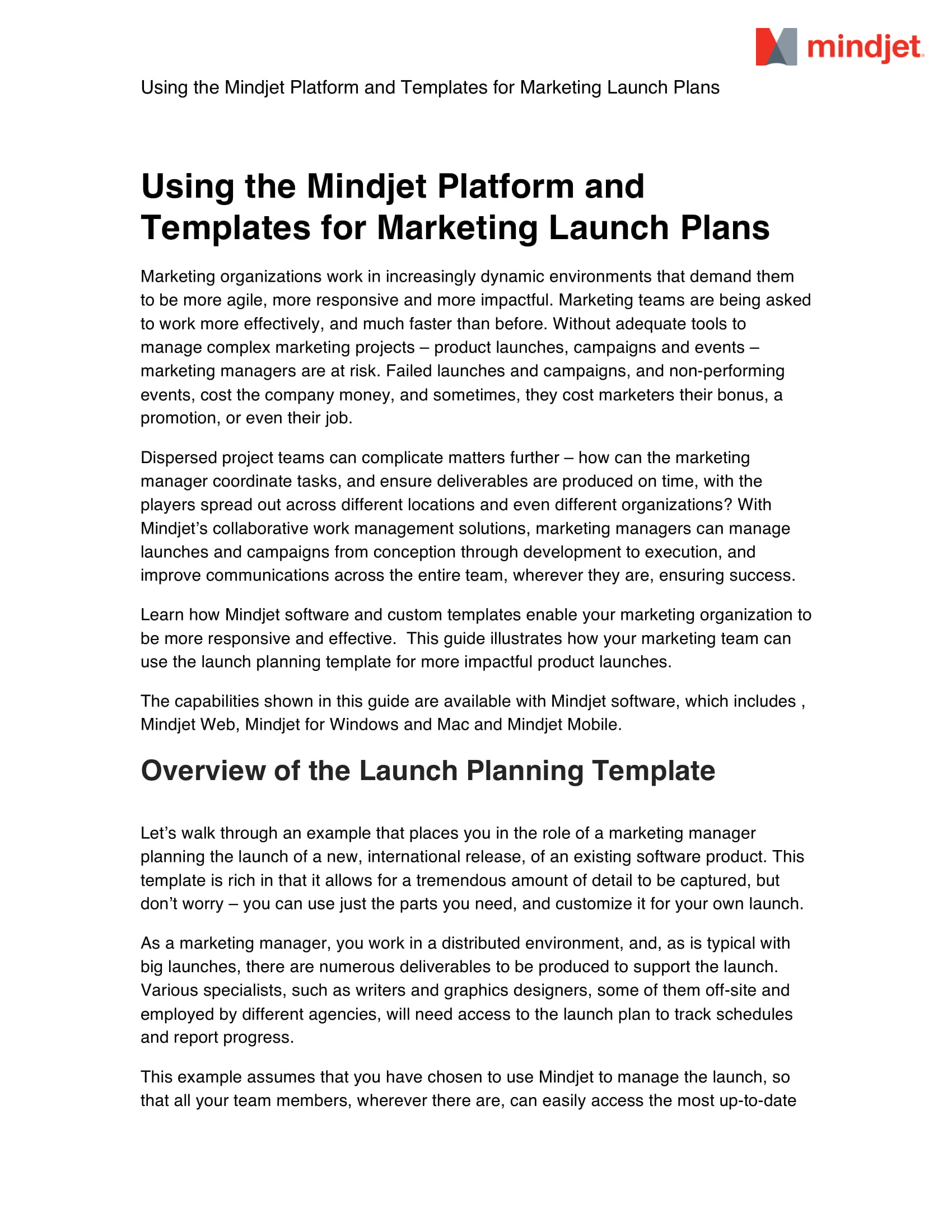 marketing launch plans for a new product example 01