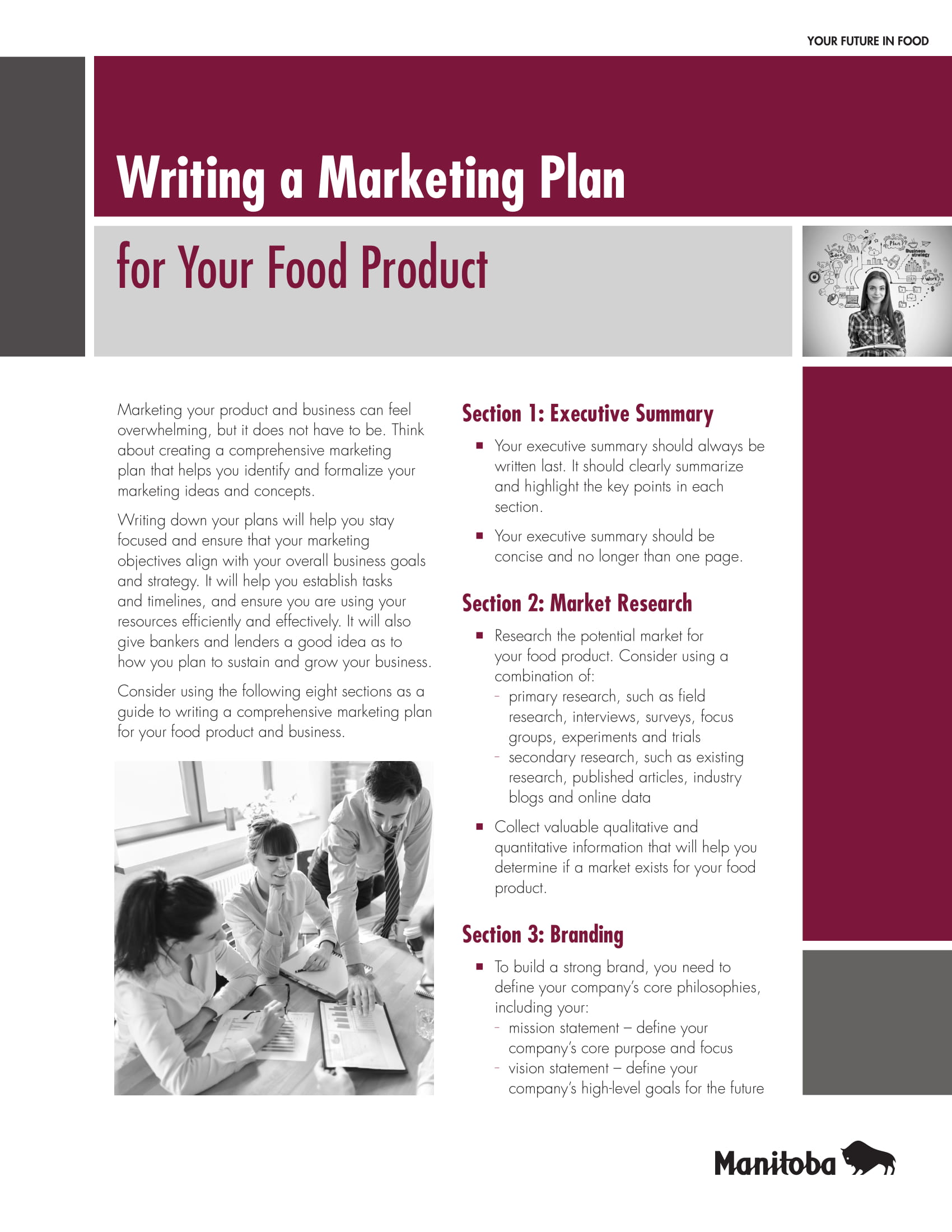 marketing plan for a new food product example 1