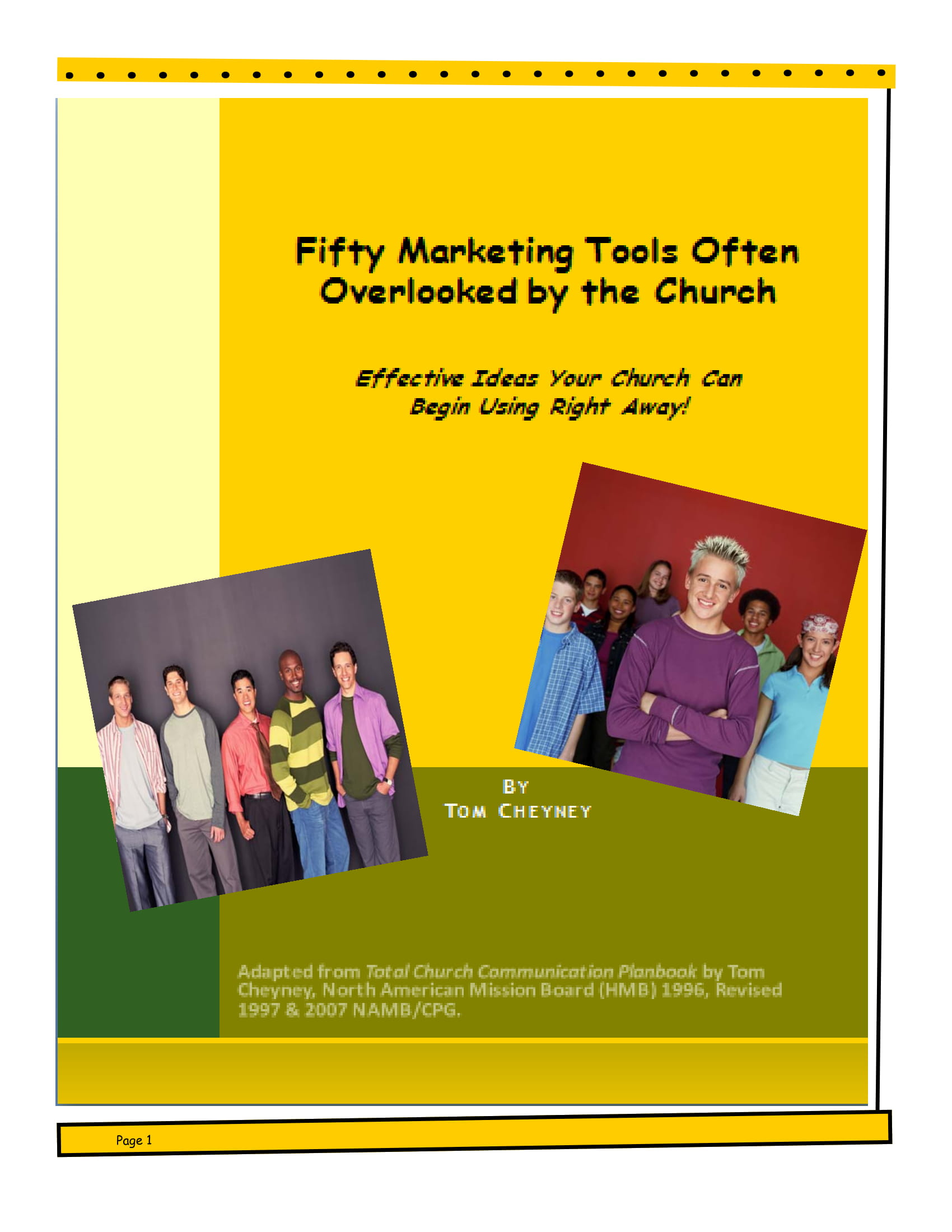 marketing planning tools for churches example 01