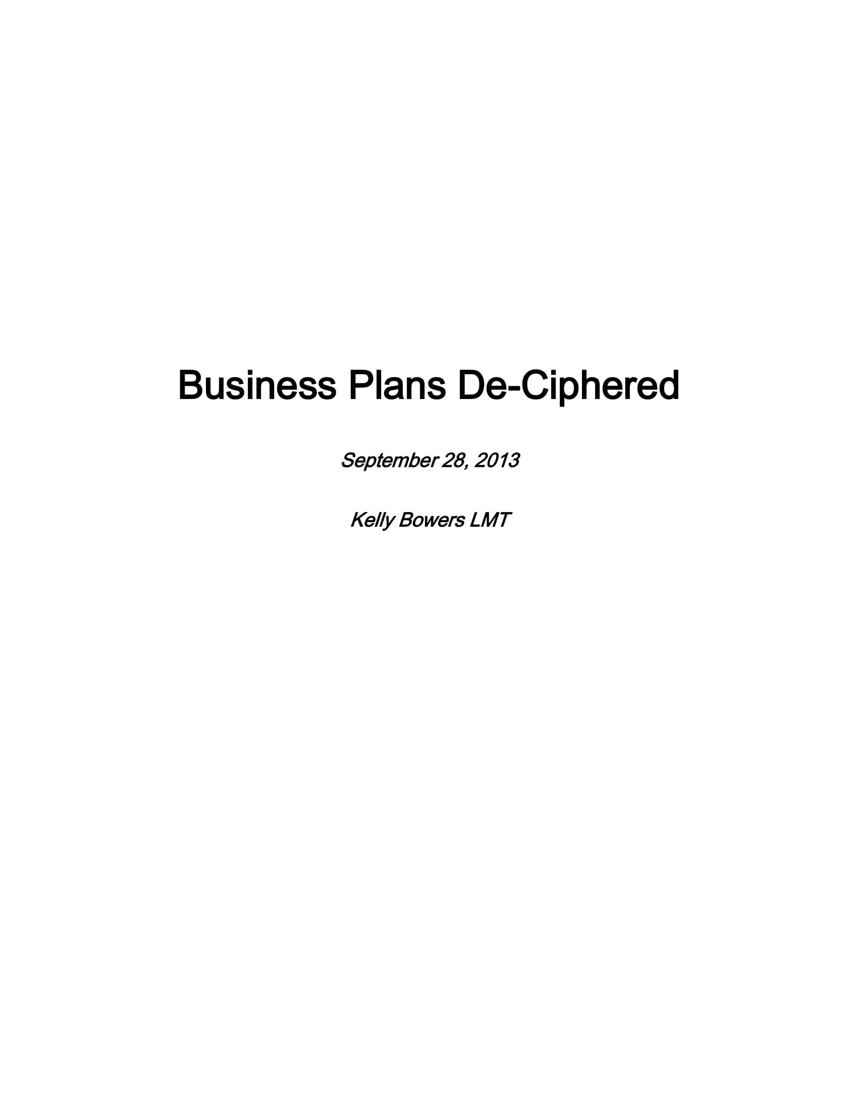 10+ Massage Therapy Business Plan Template Examples - PDF, Google