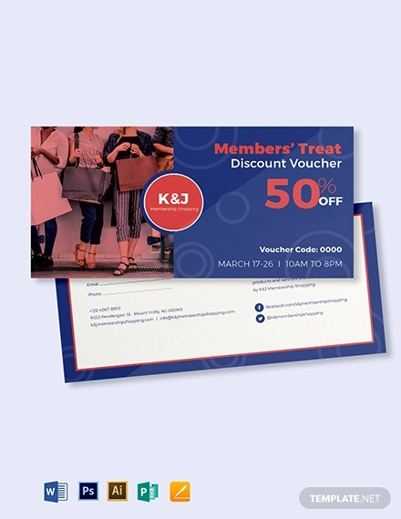 member discount voucher template