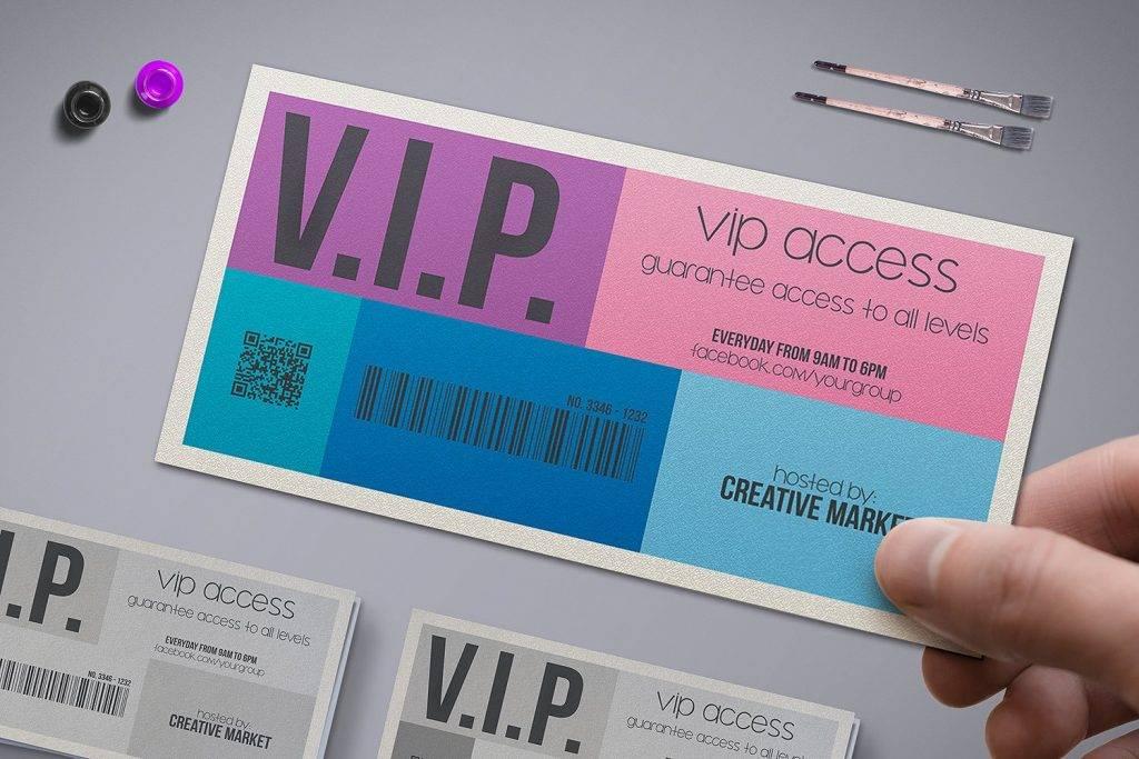 Metro Style VIP Event Ticket Example